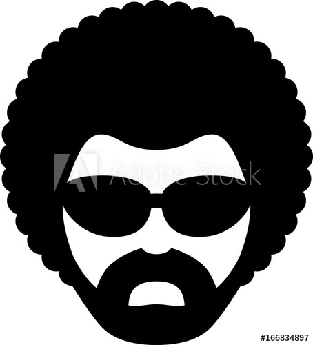 Man With Afro Icon.