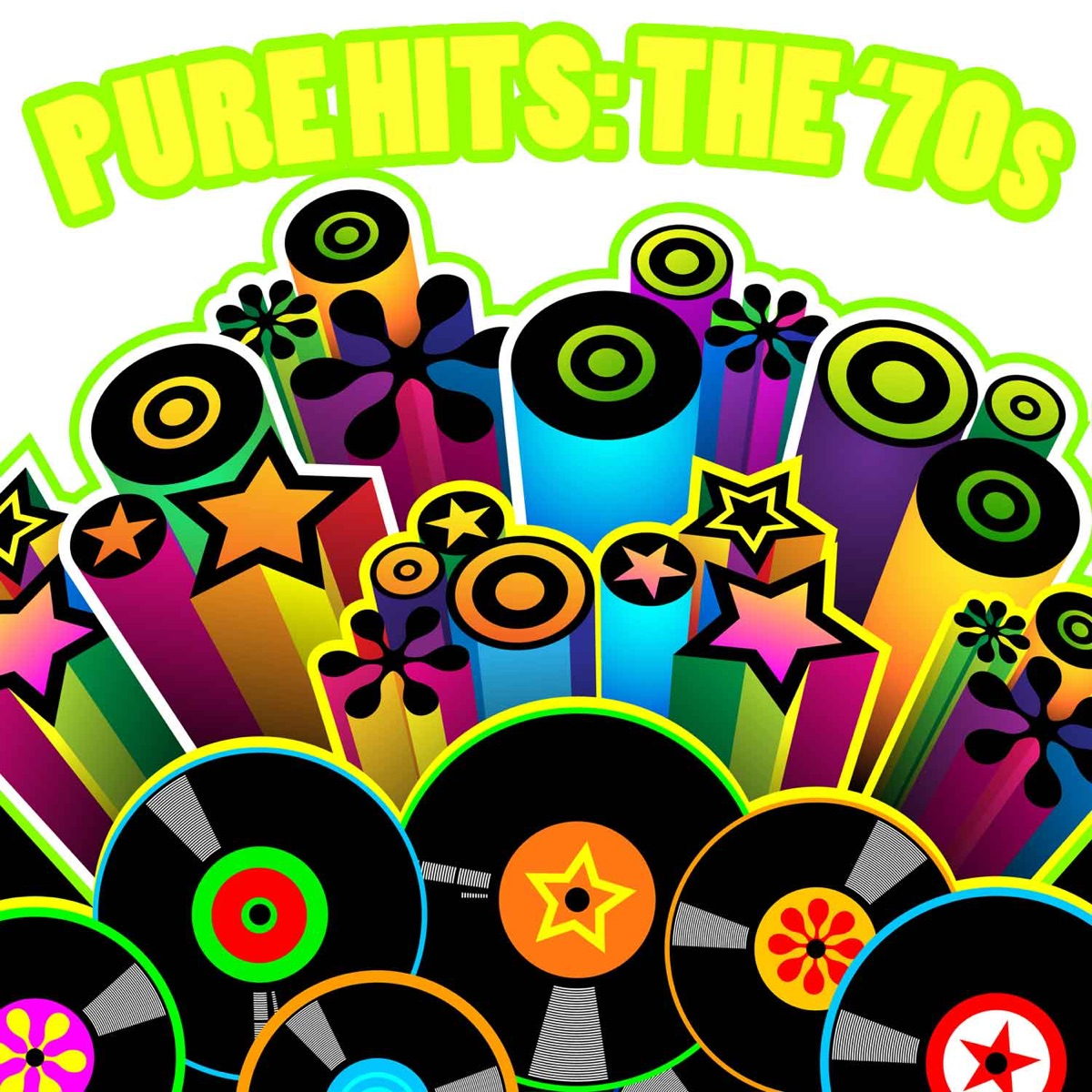 Pure Hits: The 70s Album Cover by Various Artists.