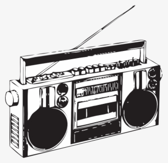 Free Boombox Clip Art with No Background.