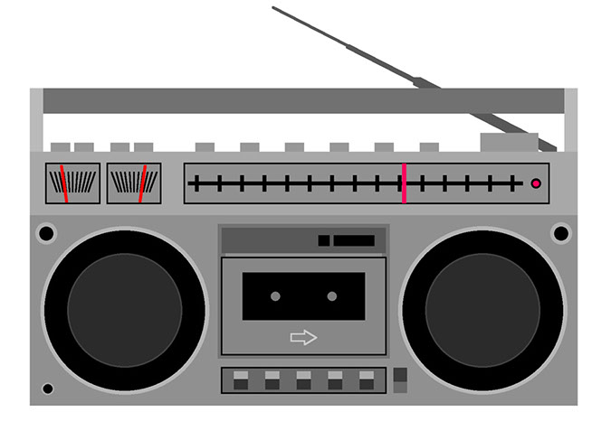 70s boom box clipart Transparent pictures on F.