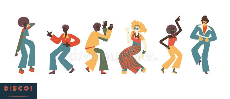 Dancing 70s Stock Illustrations.