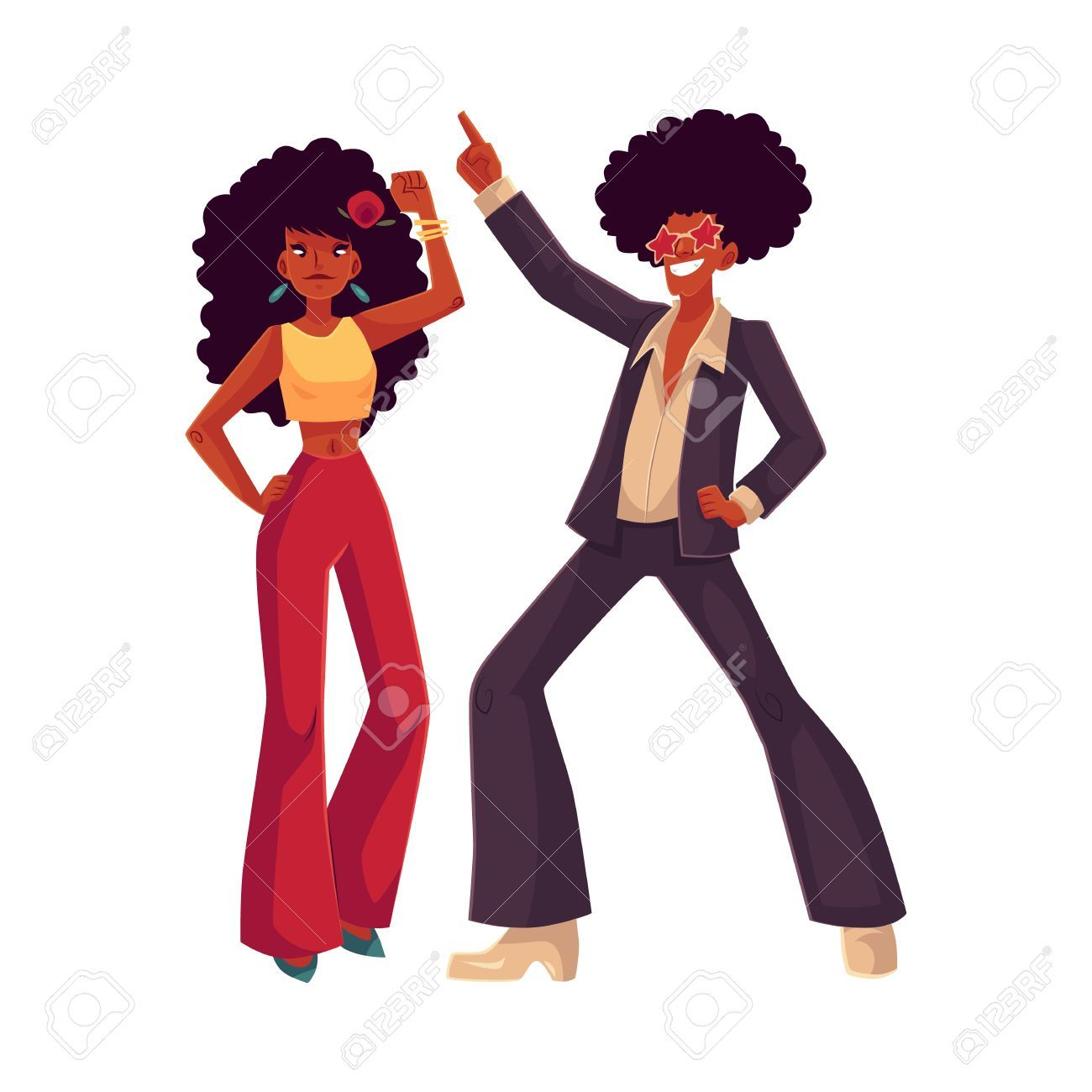 Image result for 70s african american clipart.