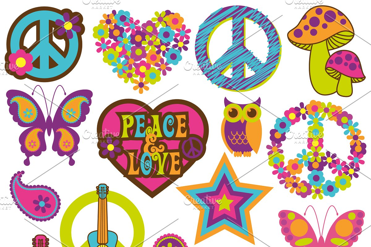 Retro 70's Vectors and Clipart.