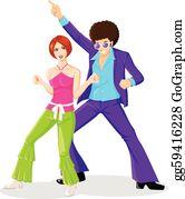 70S Disco Clip Art.