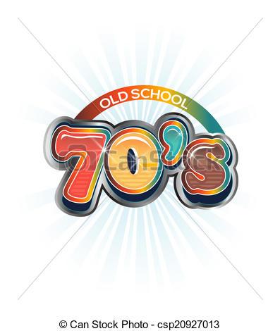 70s Vintage old school image logo.