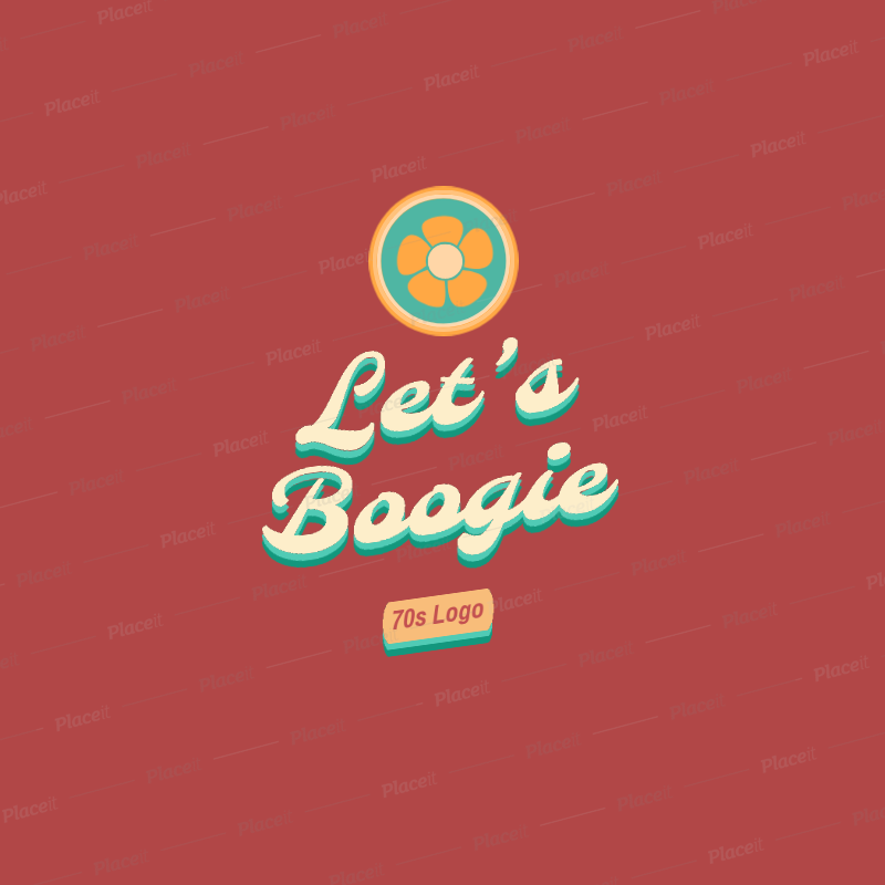 Retro Logo Maker with a 70's style 2627f.