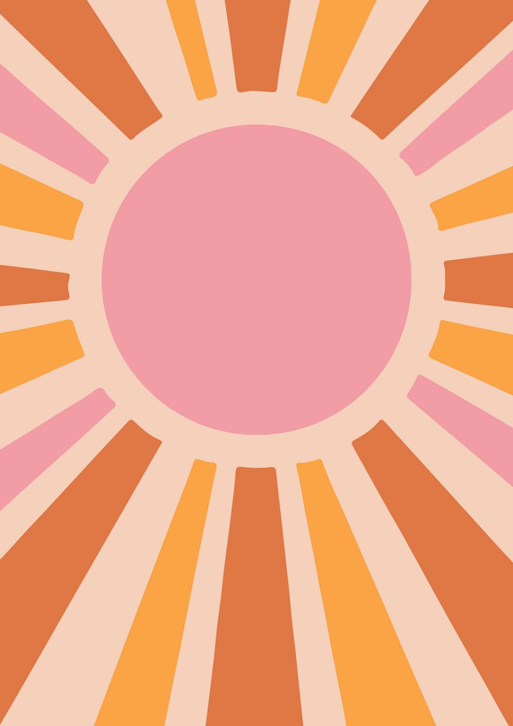 70s SUN ART PRINT.