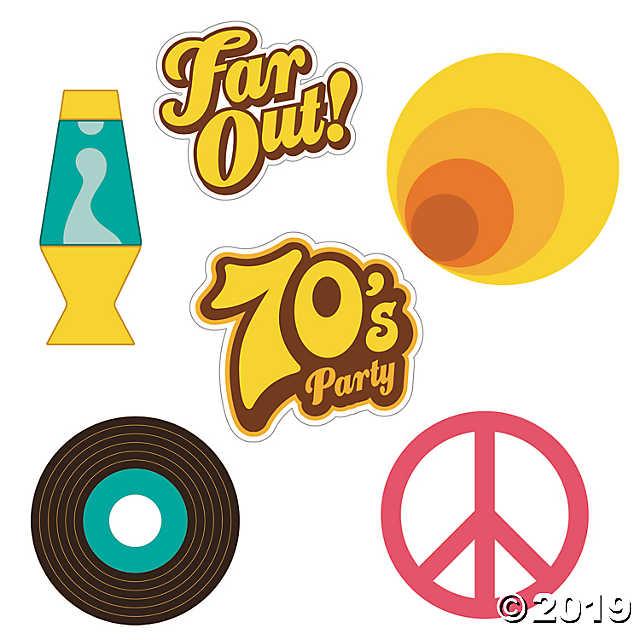 70s Party Cutouts.