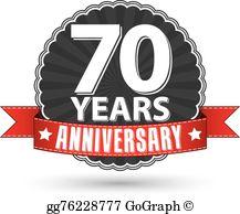 70Th Anniversary Clip Art.