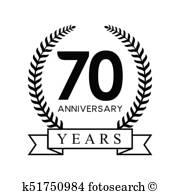 70Th Anniversary Clipart.