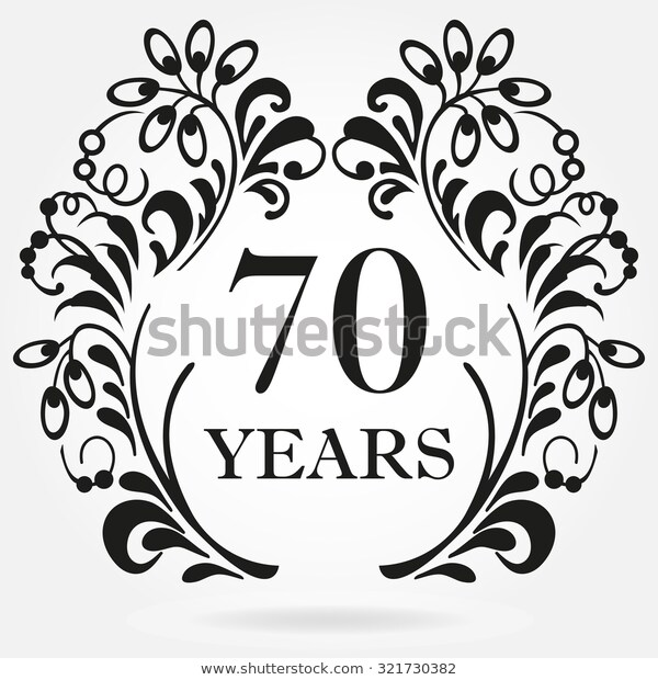 70 Years Anniversary Icon Ornate Frame Stock Vector (Royalty Free.