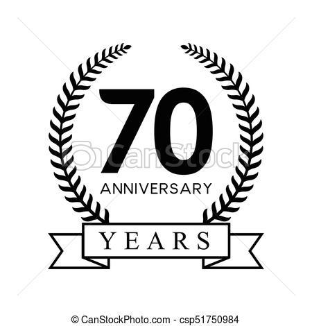 70th anniversary years.