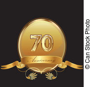 70th anniversary Vector Clip Art Royalty Free. 658 70th anniversary.