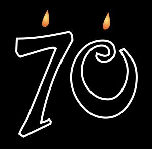 70th Church Anniversary Clipart.