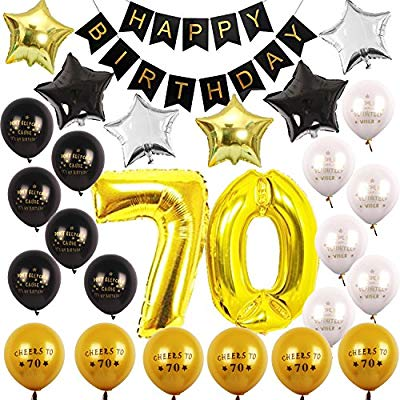 70th BIRTHDAY PARTY DECORATIONS KIT.