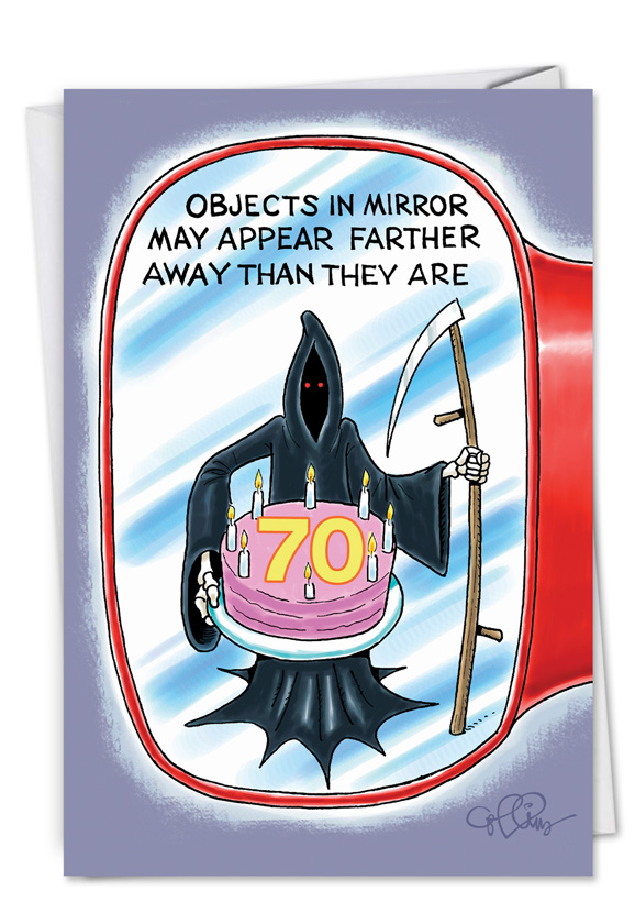 Objects in Mirror 70 Card.
