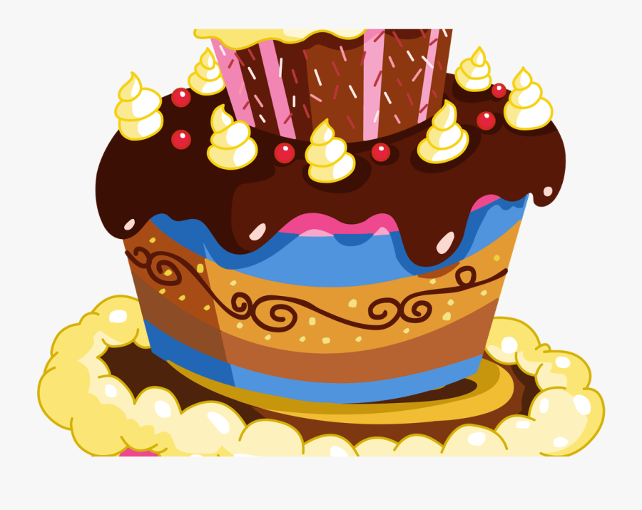 Transparent 70th Birthday Cake Clipart.