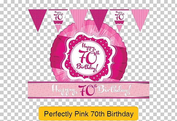 Party game Birthday, 70th Birthday PNG clipart.