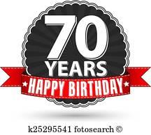 70Th Birthday Clip Art Vectors.