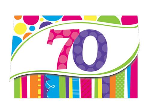 Happy 70th Birthday Clipart.