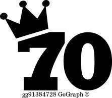 70Th Birthday Clip Art.