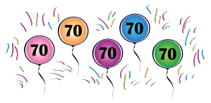 70th Birthday Border Clip Art.