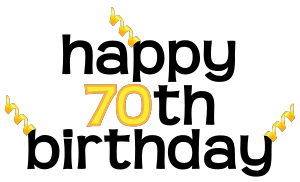Happy 70th birthday clipart » Clipart Portal.