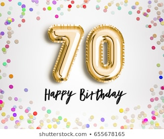 Strikingly 70th Birthday Clipart Best Images Stock Photos Vectors.