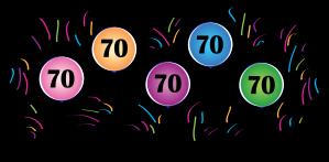 70th Balloons.