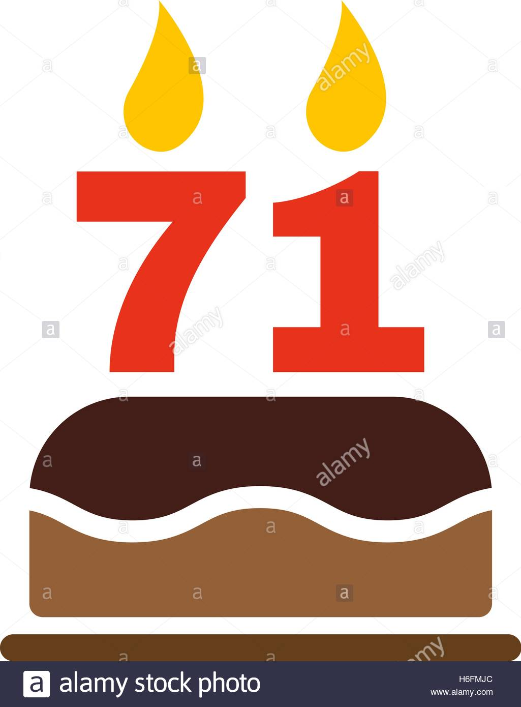 Clipart of Number 71.