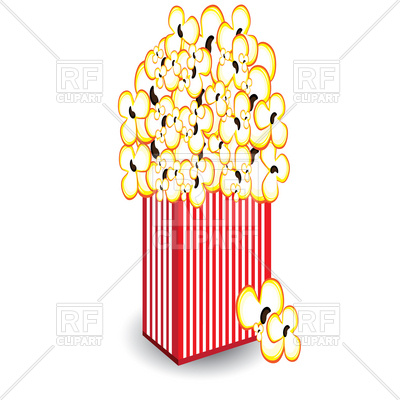 Pack of popcorn Vector Image #7100.