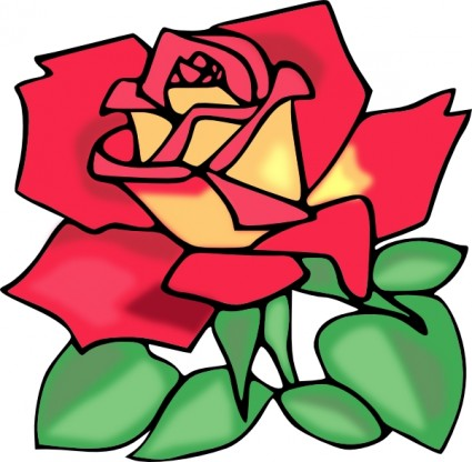 Image of Clip Art Red Rose #7100, Red Rose Clip Art Free Vector.