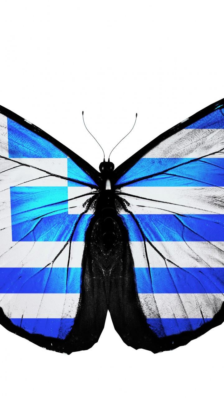 Download Wallpaper 720x1280 Blue butterflies clipart, Blue.