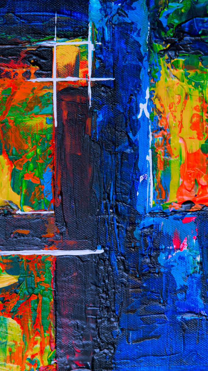 720x1280 Canvas paint, brush marks, strokes wallpaper.