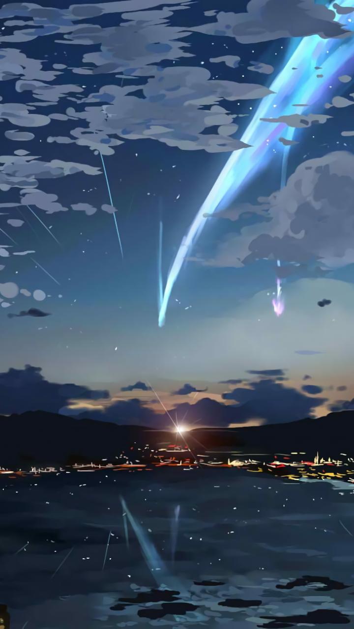 Download 720x1280 Your Name, Sky, Stars, Kimi No Na Wa, Lights.