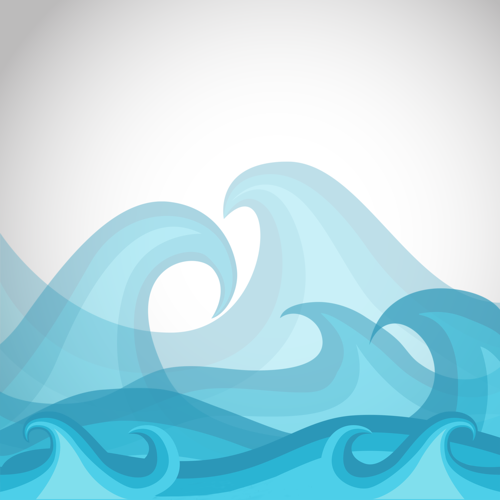 Wave Cartoon clipart.