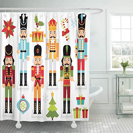 Amazon.com: TOMPOP Shower Curtain Cracker Christmas.