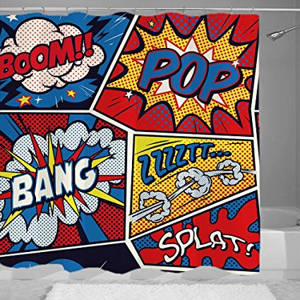 Amazon.com: YUNBABA Comic Style Boom Pop Bang Icons Effect.