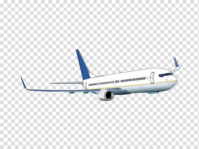 Airplane Boeing 737 , aircraft material transparent.