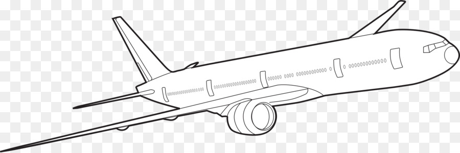 Airplane Drawing png download.