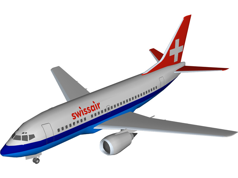 Boeing 737 Swiss Air 3D Model Download.