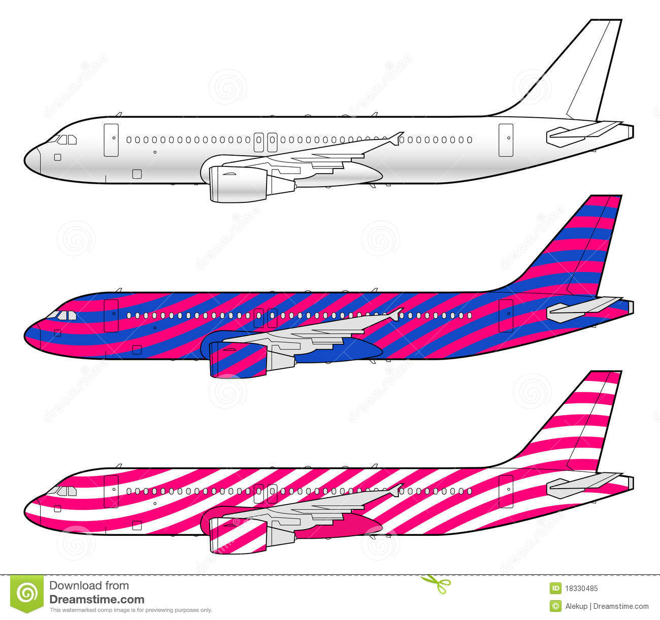 Boeing 737 Stock Illustrations.