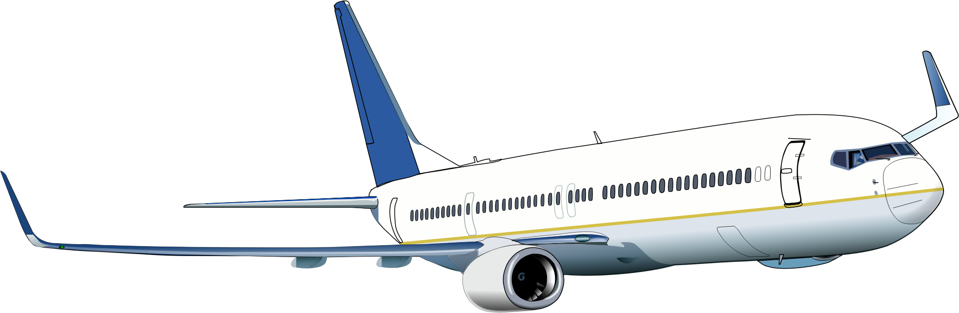 Boeing 737 clipart.
