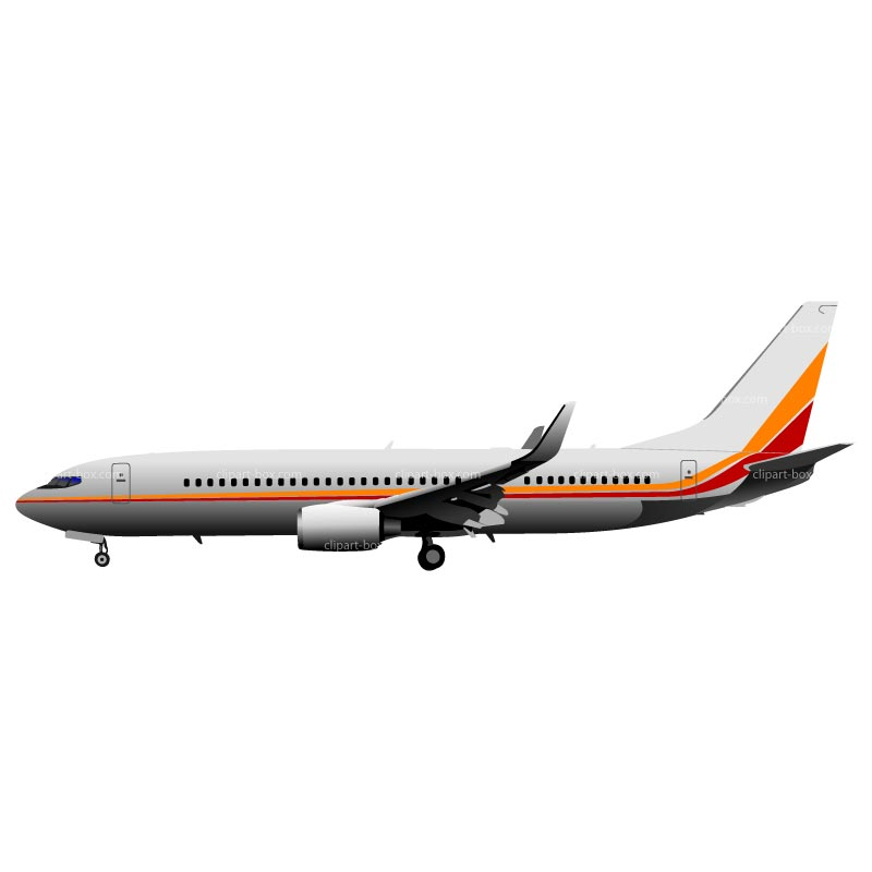 CLIPART BOEING 737 SIDE VIEW.