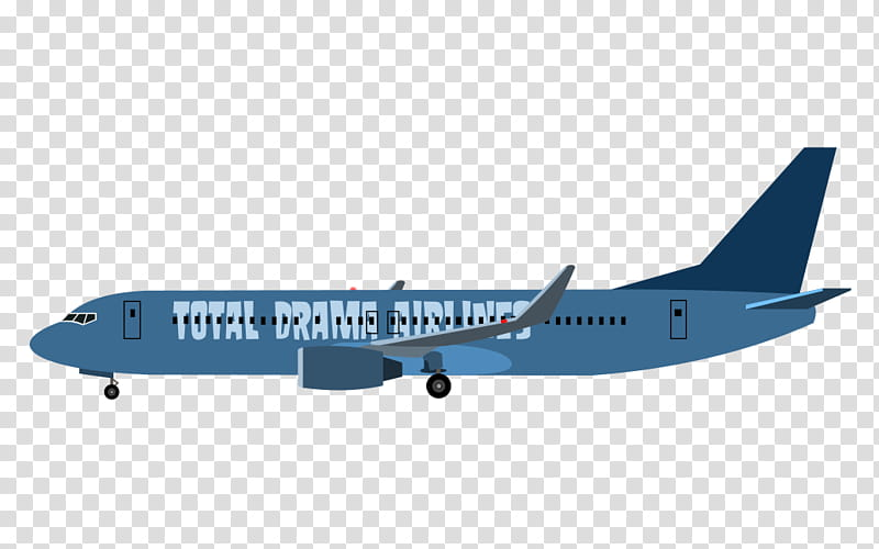 Total Drama Airlines Flight transparent background PNG.