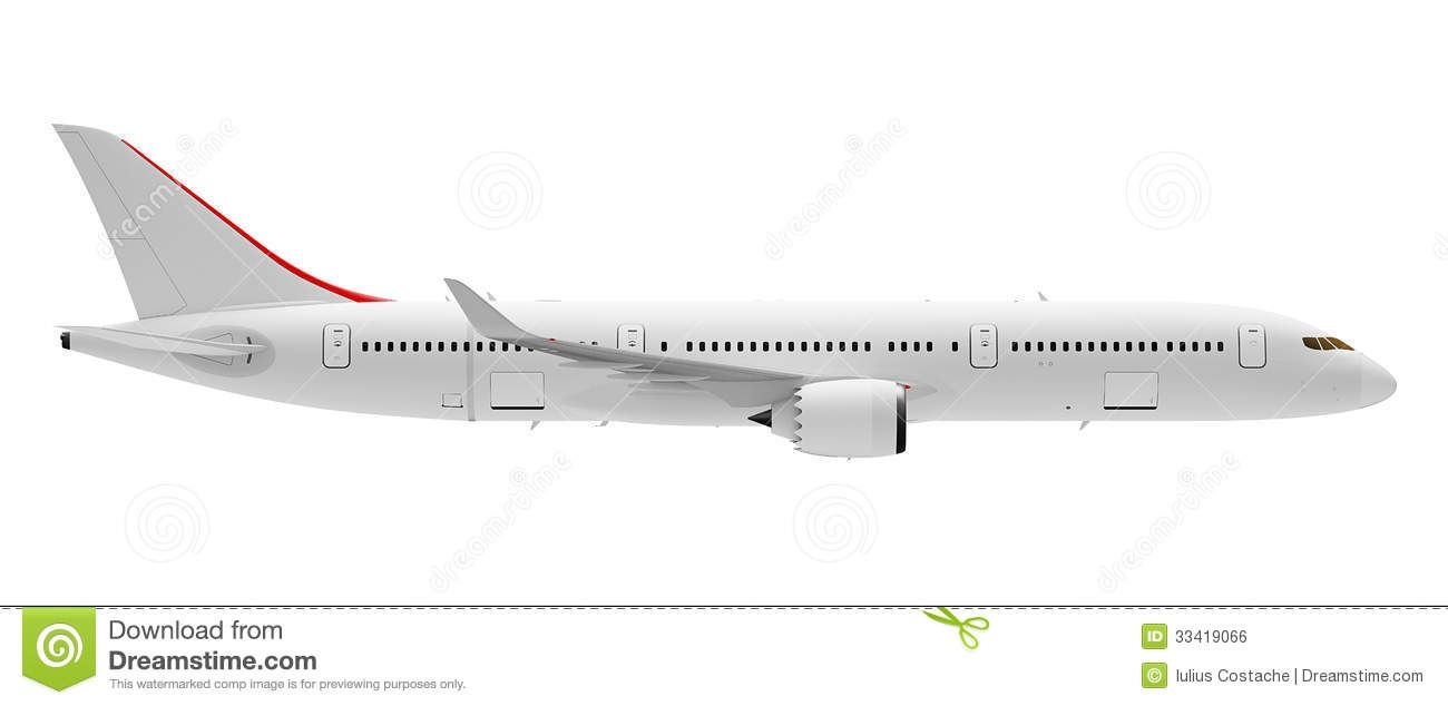 Plane Side View Clipart.