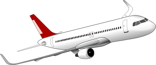 Drawing of Airbus A320 plane.