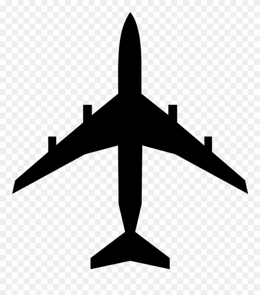 747 Airplane Silhouette Clipart (#390355).