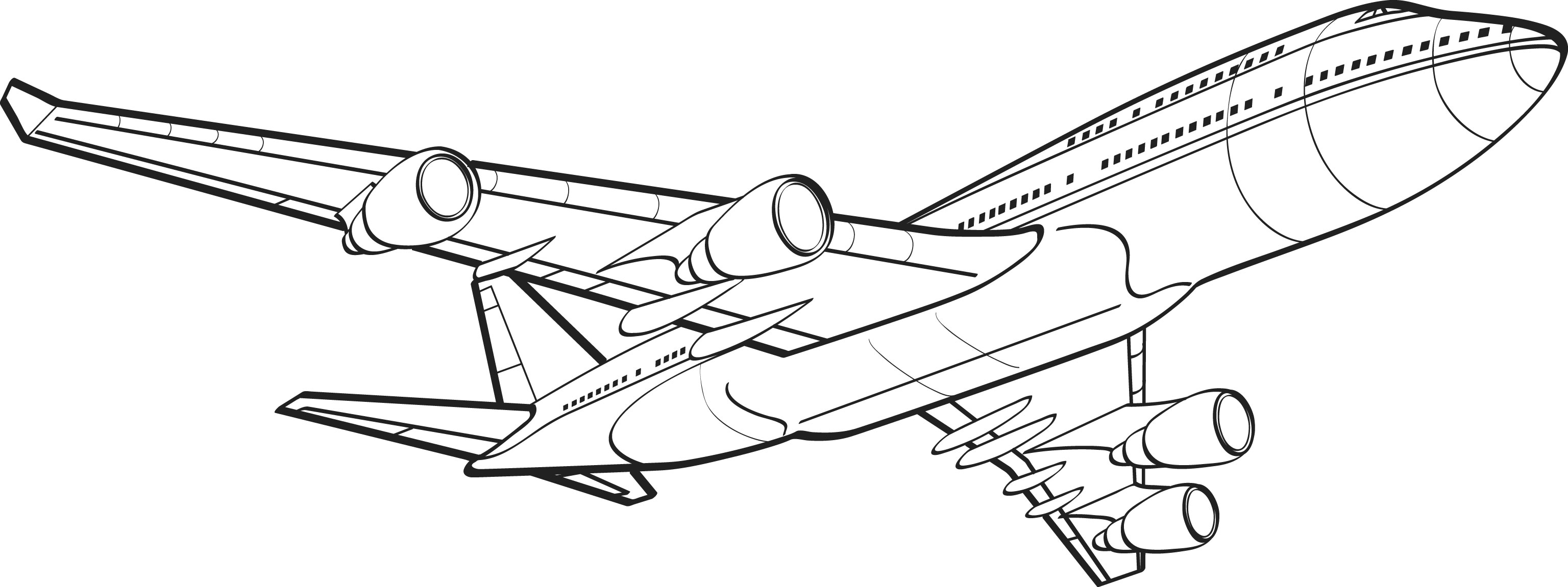 Line Drawing Jet : Clipart clipground