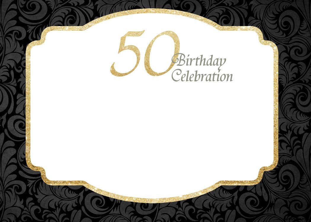 50th birthday invite template free.